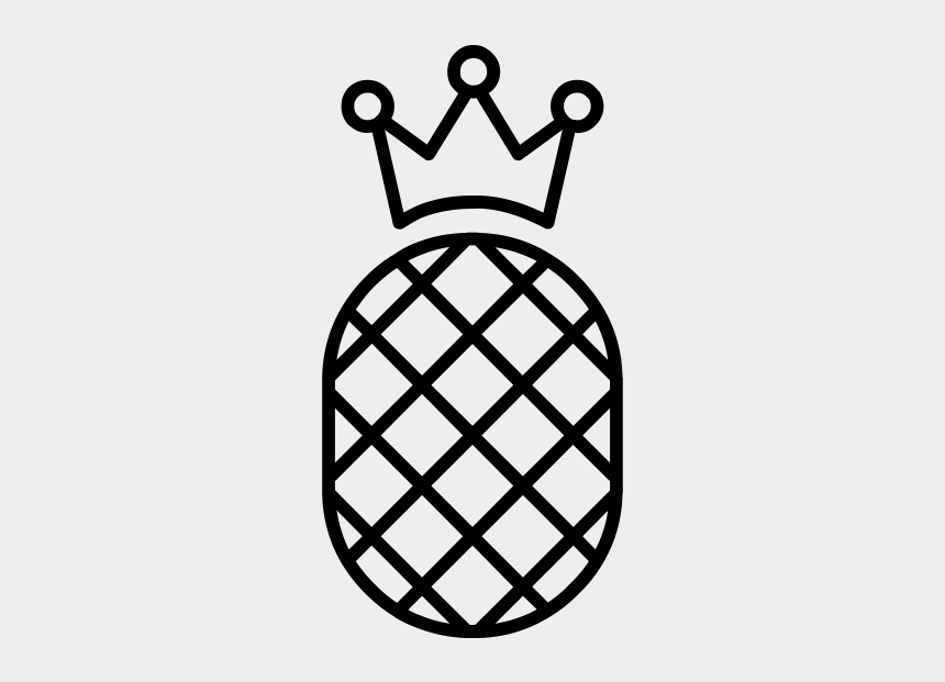 pineapple clipart black and white, Cartoons - Pineapple Rubber Stamp - Pineapple Png Coloring Page