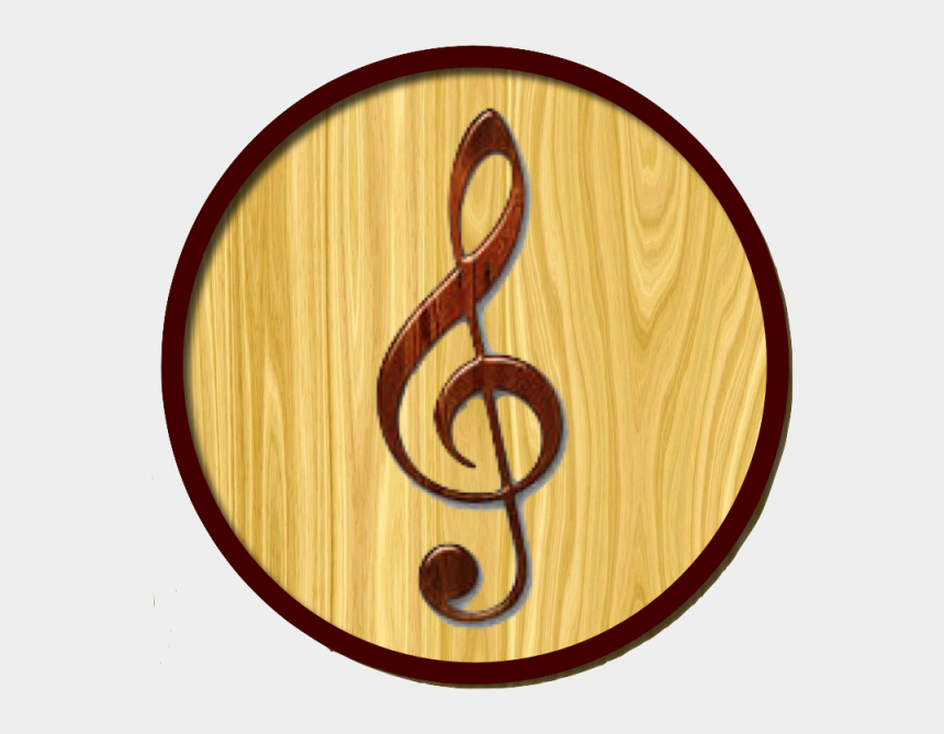 listen to music clipart, Cartoons - Music Icon Wood, Music, Playlist, Listen Png And Psd - Clef