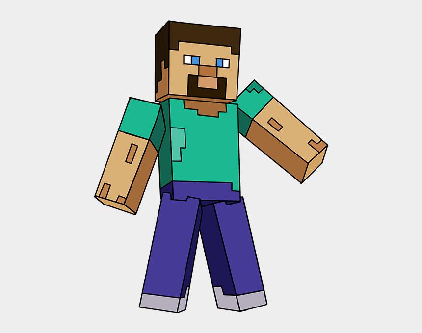 minecraft clipart, Cartoons - How To Draw Steve From Minecraft - Easy Draw Minecraft Steve