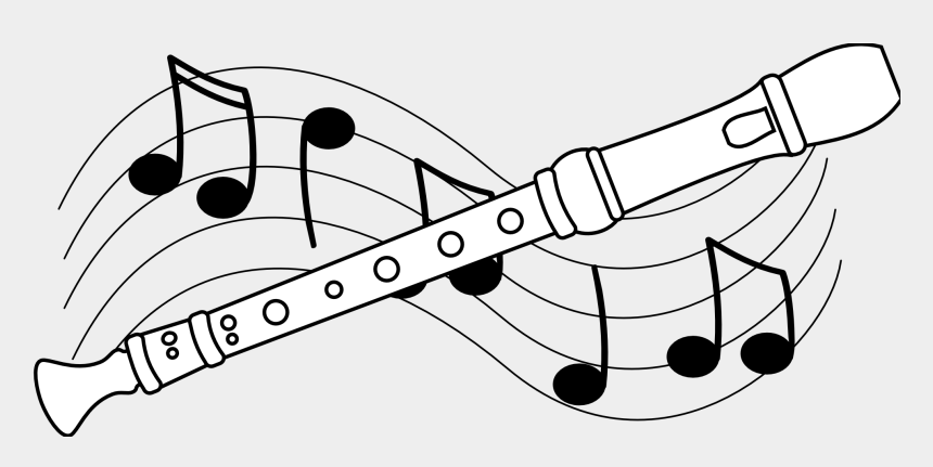 listen to music clipart, Cartoons - Music Black And White Concert Clip Art Black And White - Recorder Instrument Clip Art