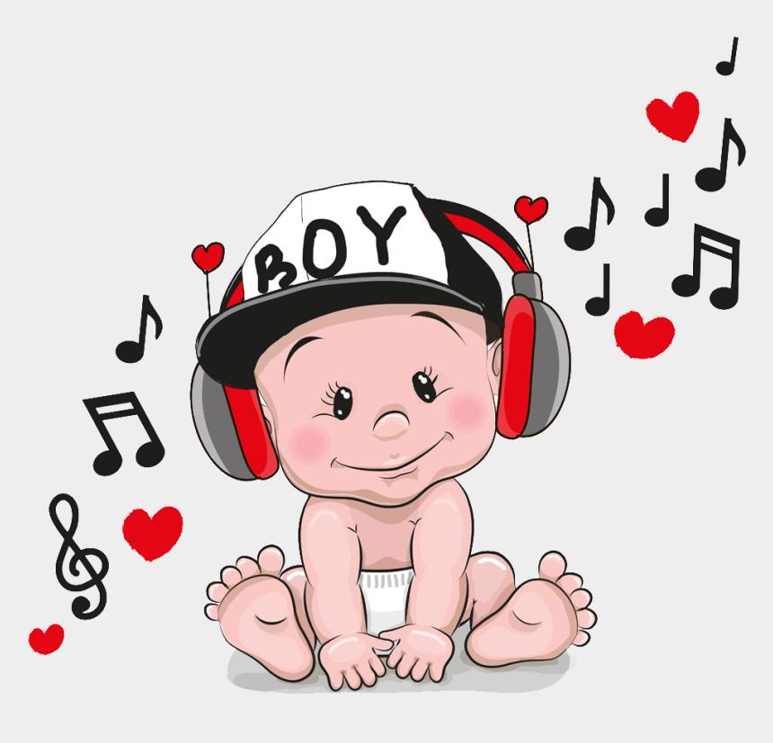 listen to music clipart, Cartoons - Headphone Clipart Child Music - Baby Music Cartoon