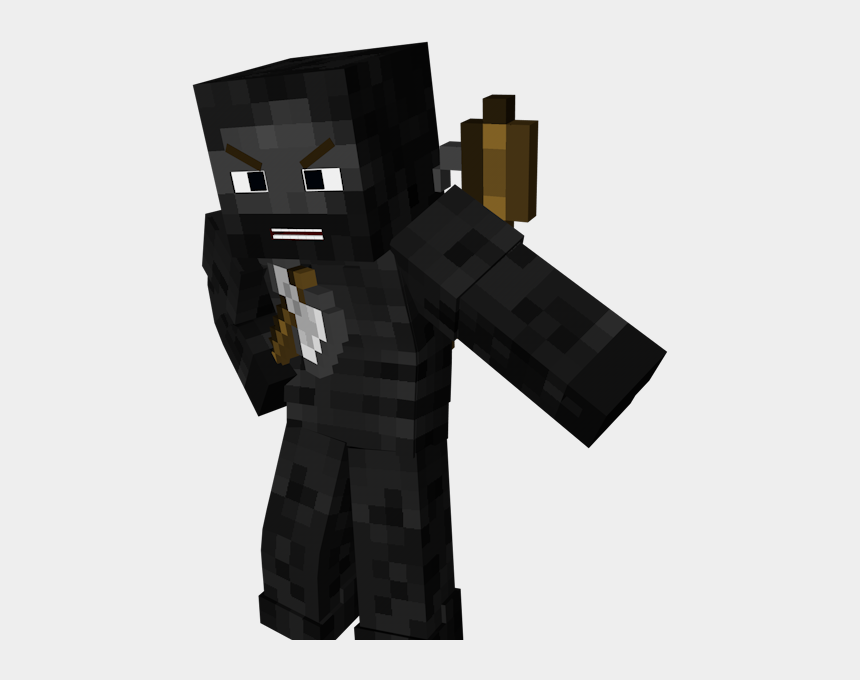 minecraft clipart, Cartoons - Minecraft Clipart Minecraft Skin - Wither Skeleton Render Minecraft