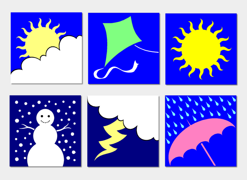 seasons clipart, Cartoons - Clip Art Weather Seasons Education Summer Winter - Weather And Seasons Clip Art