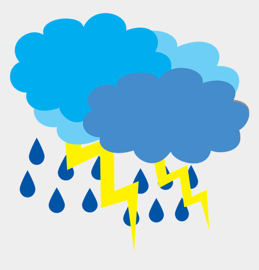 thunderstorm clipart, Cartoons - Cloud Cover With The Clouds,weather - Rain Cartoon Transparent Png