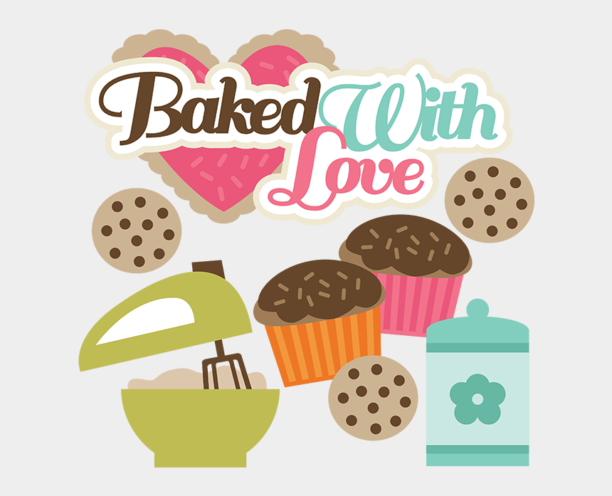 bake sale clip art, Cartoons - Baked With Love Svg Files For Cutting Ⓒ - Baking With Love