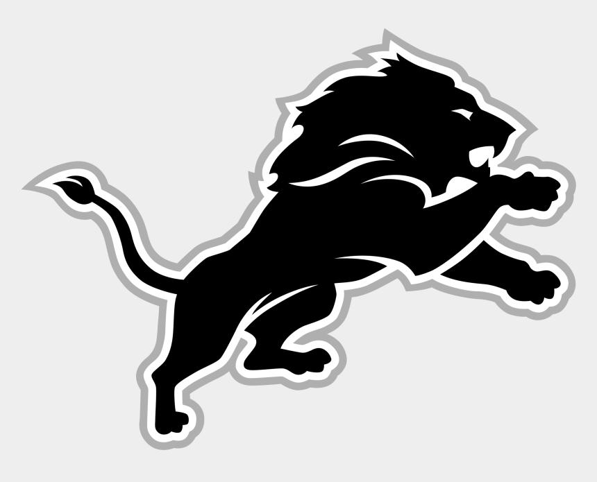 lions clipart black and white, Cartoons - Logos Transparent Lion - Nfl Team Logos Transparent
