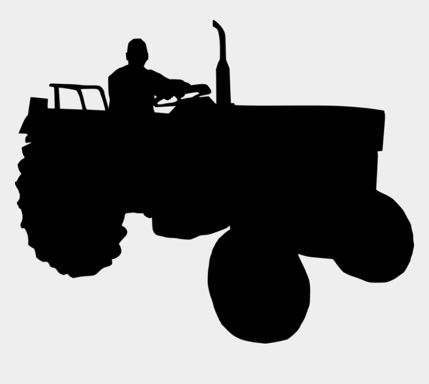tractor clipart silhouette, Cartoons - Tractor Silhouette - Farm Tractor Silhouette Png