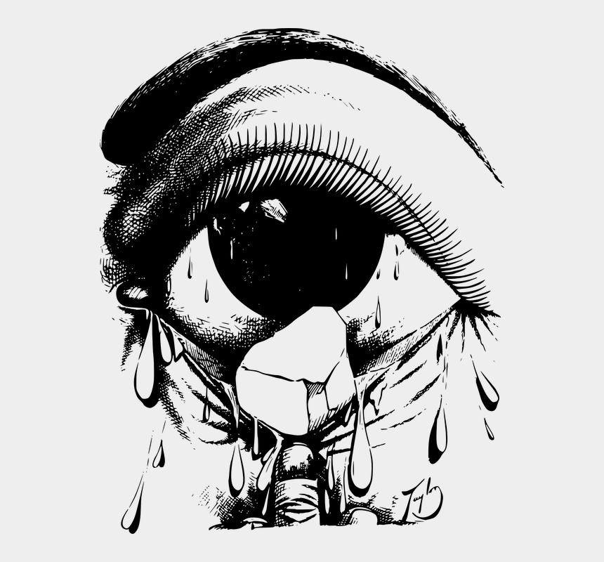 crying eye clipart, Cartoons - Crying - Drawing Of Crying Eyes