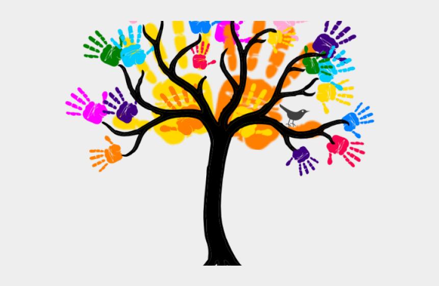 charlie brown tree clipart, Cartoons - Handprint Clipart Friendship Tree - Blue Tree Clip Art