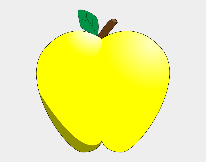 yellow apples clipart, Cartoons - Yellow Apple Clipart