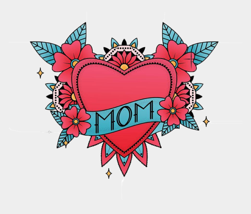 mom tattoo clipart, Cartoons - Mom Heart In Color - Mother