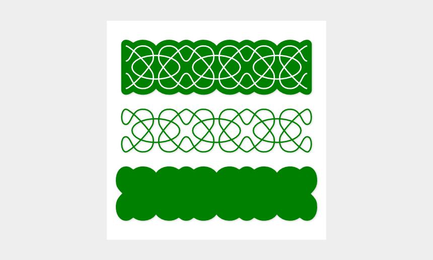 one line border clipart, Cartoons - The - Green Single Line Borders
