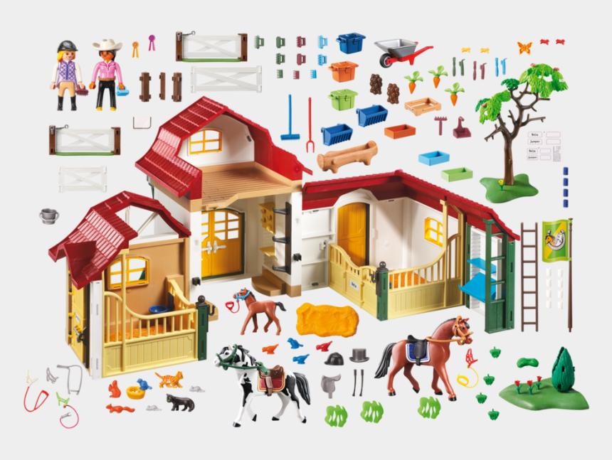 horse barn clipart, Cartoons - Clipart Barn Horse Stable - Playmobil Horse Farm