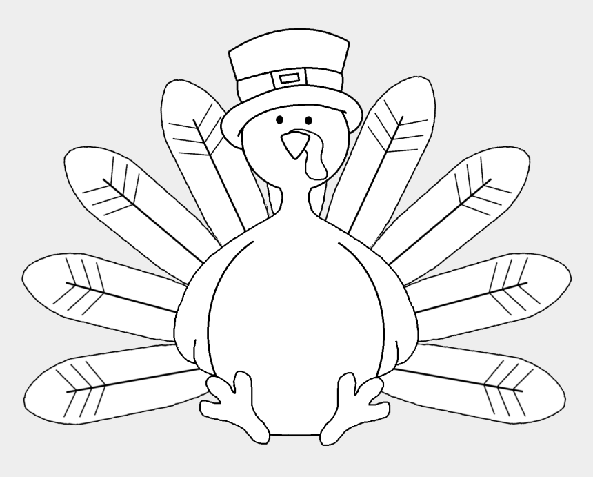 turkey dinner clipart black and white, Cartoons - Coloring Pages Turkey - Thanksgiving Turkey Clip Art Black And White