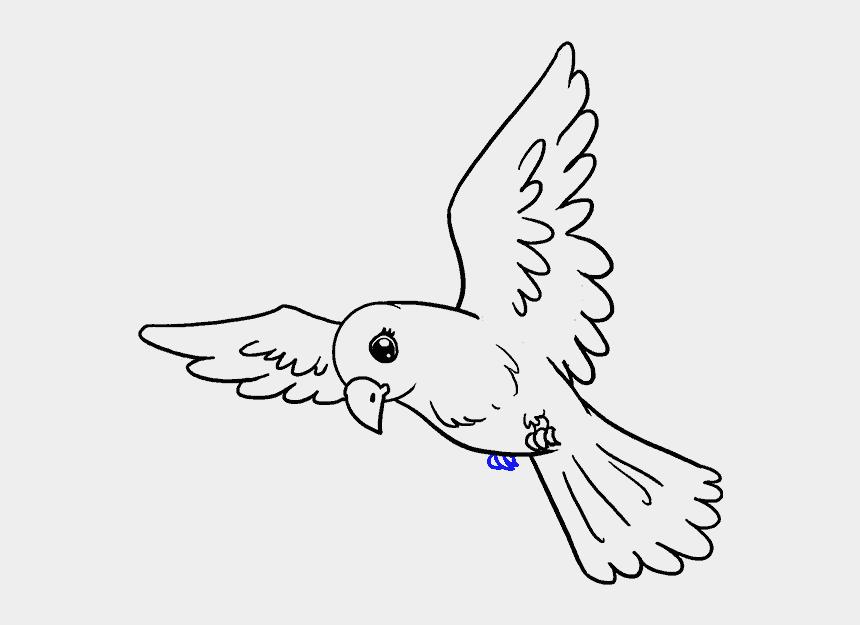 Drawing Spring Bird Flying Bird Drawing Easy Cliparts Cartoons Jing Fm