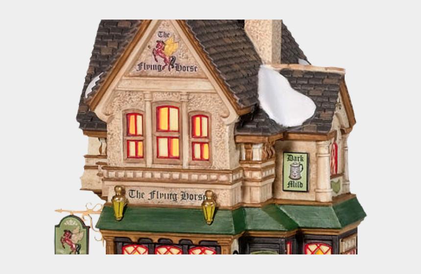 christmas home clipart, Cartoons - Dept 56 Flying Horse Tavern
