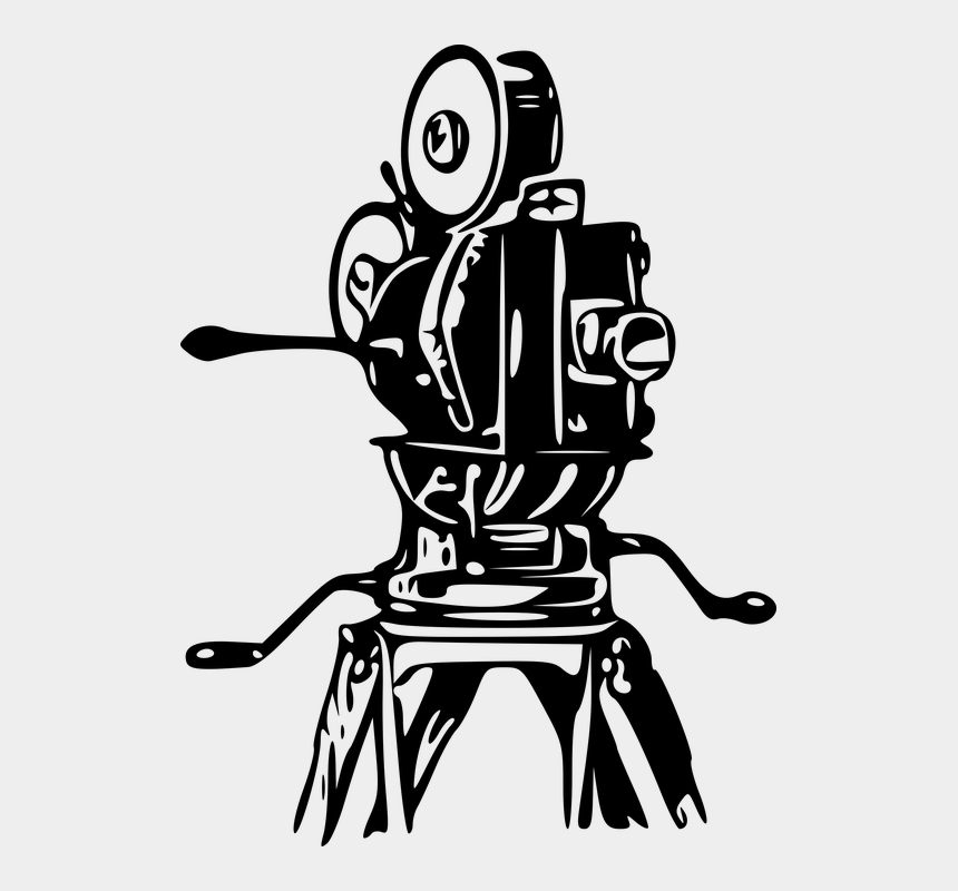 movie camera and film clipart, Cartoons - Camera Film Footage Movies Old Retro Tripod - Old Film Camera Clipart