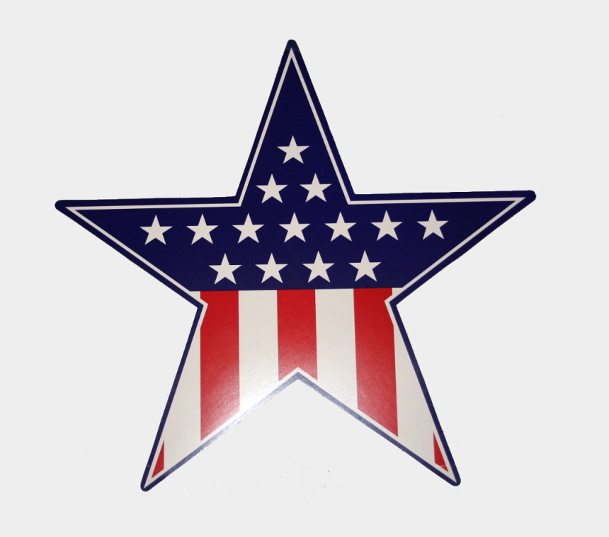 patriotic star clipart, Cartoons - 4th Of July Flag Cut Outs , Png Download - Us Flag Star Png
