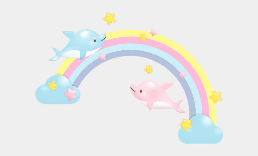 cute baby dolphin clipart, Cartoons - #cute #colorful #rainbow #dolphin #dolphins #love #sweet - Baby Toys