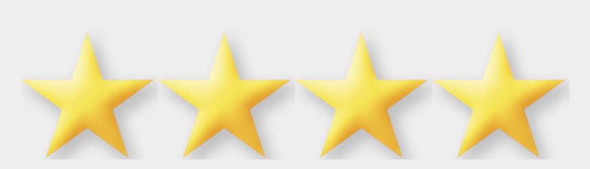 gold star clipart no background, Cartoons - 5 Stars Png No Background - 4 Out Of 4 Stars