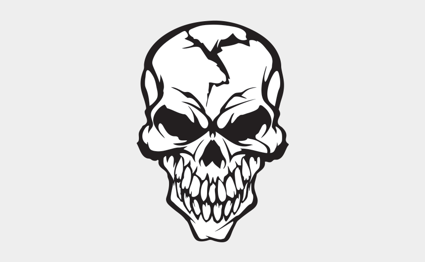 cracked skull clipart, Cartoons - Cracked Drawing Skull - Cracked Skull Drawing