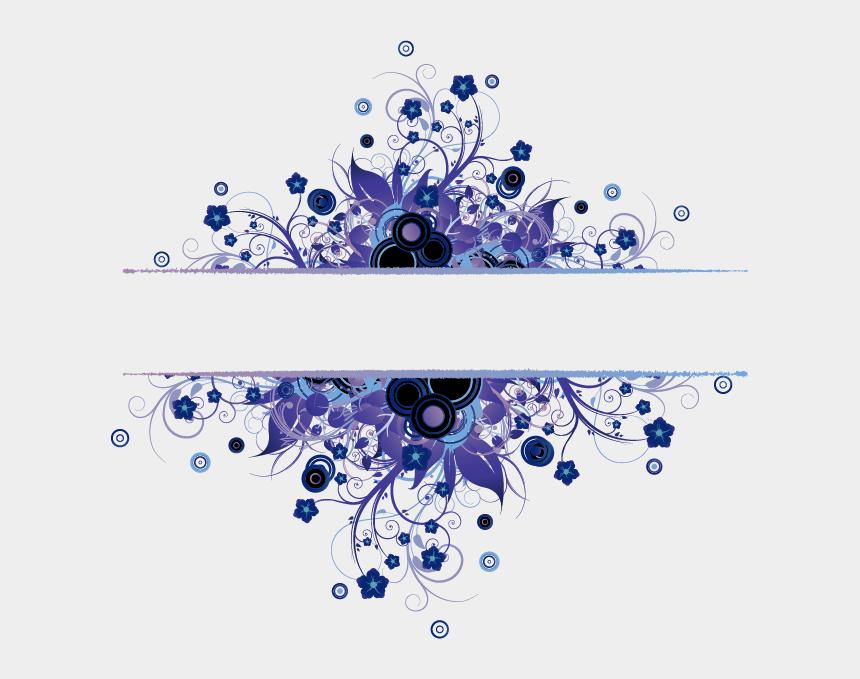 swirl flower clipart, Cartoons - #flowers #flower #flower #swirly #swirls #swirl #frames - Blue Frame Flower Png