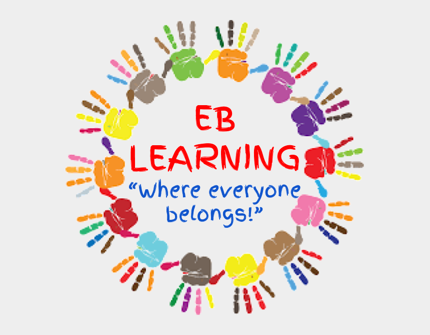 children with learning disabilities clipart, Cartoons - Eb Learning - Colorful Hand Prints Png