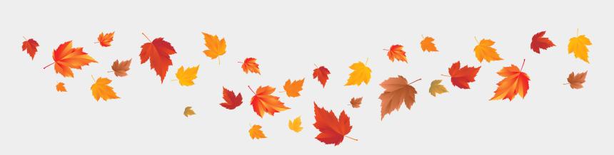 fall leaves banner clipart, Cartoons - Fall Leaves Banner Clip Art , Png Download - Fall Leaves Banner Clip Art