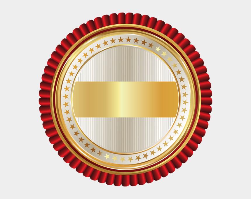 clipart award seal, Cartoons - Math Clipart Awards - Gold Badge Vector Png