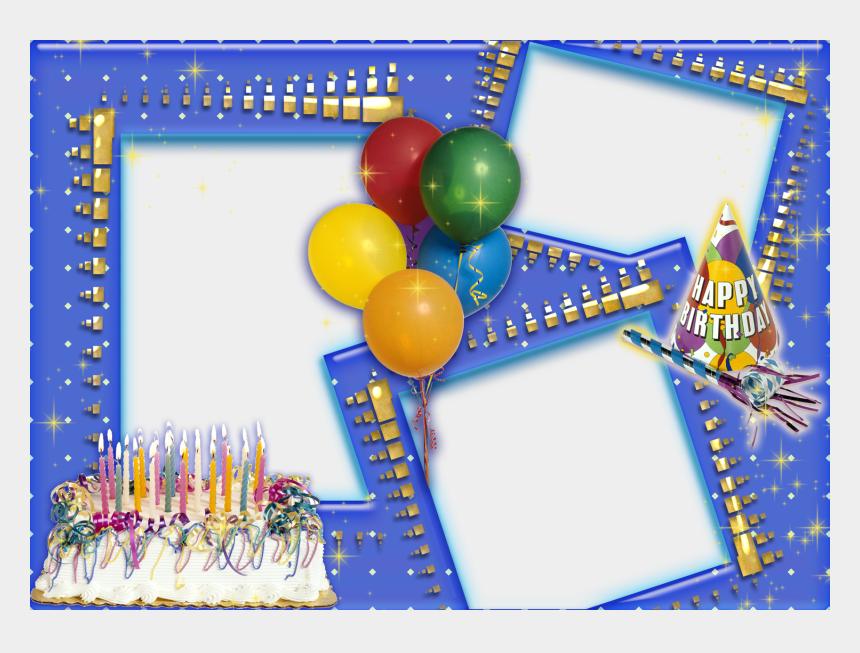 happy birthday frame clipart, Cartoons - Happy Birthday Photo Frame Hd - Collage De Fotos Para Cumpleaños