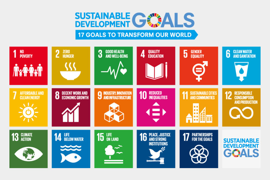economic development clipart, Cartoons - Conscious Of The Philosophy Of The Sdgs, The Kyocera - Sustainable Development Goals Report 2018