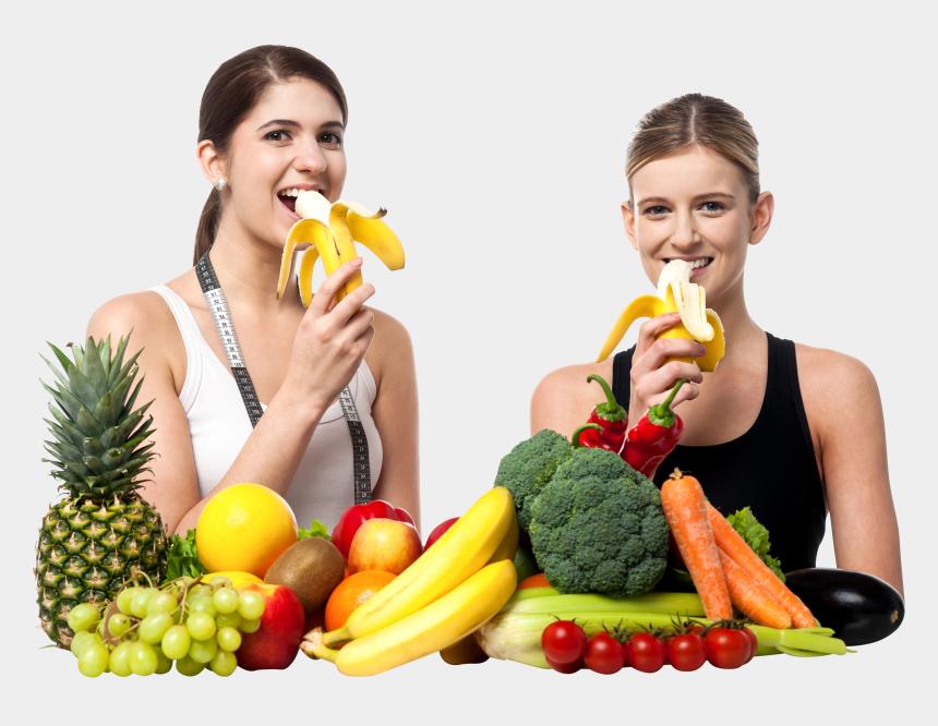 woman eating clipart, Cartoons - Fruits Clipart Woman