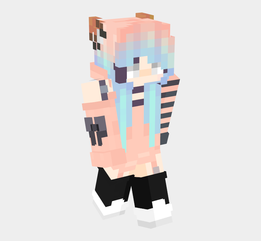 healthy skin clipart, Cartoons - Com Skin 3d Body - Skin Minecraft Wolf Girl