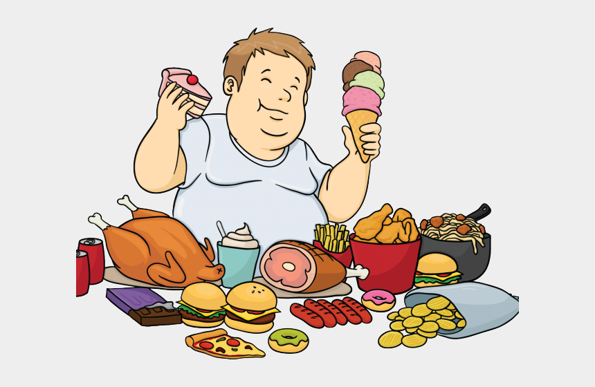 junk foods clipart, Cartoons - Junk Food Clipart Group - Eating Too Much Clipart