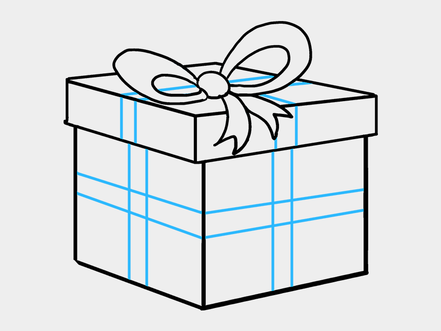 gift package clipart, Cartoons - Drawing Present Gift Pack - Do You Draw A Christmas Present