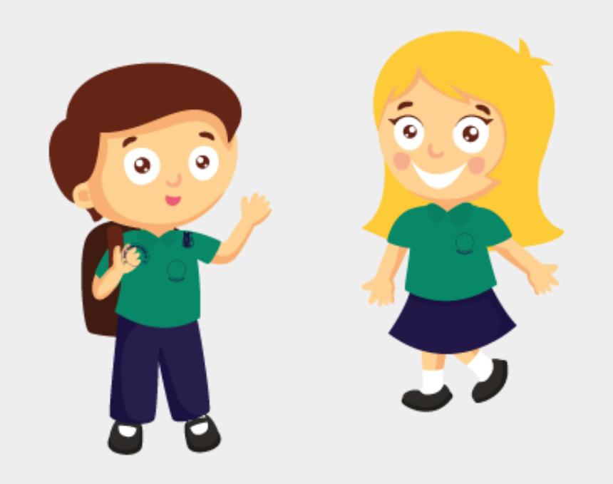 children working at school clipart, Cartoons - Starting School In September - Primary School Animation