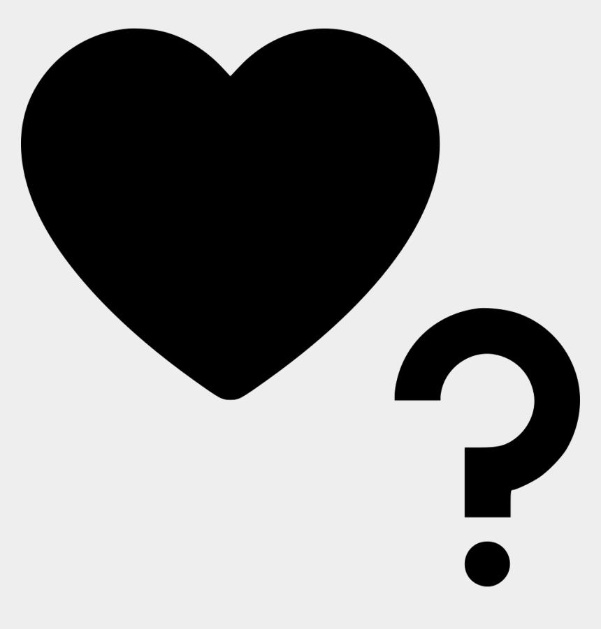 question mark border clipart, Cartoons - Heart Question Mark Comments - Heart With Question Mark