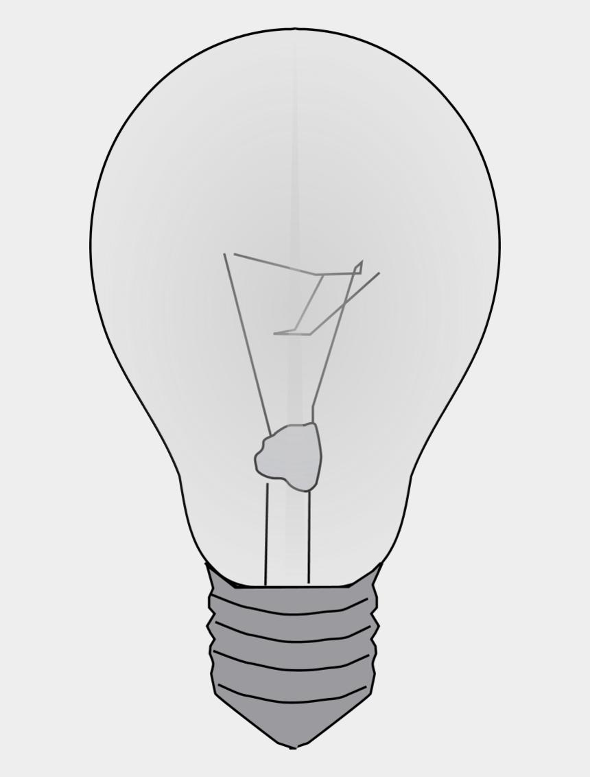 light source clipart, Cartoons - Incandescent Light Bulb