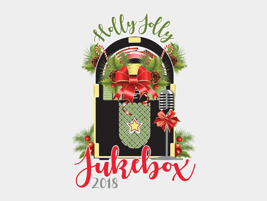 holly jolly christmas clipart, Cartoons - Holly Jolly Jukebox - Wreath