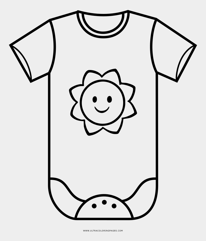 baby onesie clipart black and white, Cartoons - Baby Clothes Coloring Page - Drawing Of Baby Clothes