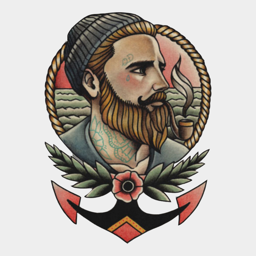 tattoo parlor clipart, Cartoons - Tattoos School Old Tattoo Flash Parlor Clipart - Old School Tattoo Man