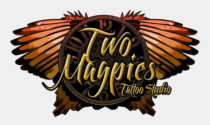 tattoo parlor clipart, Cartoons - Two Magpies Tattoo Studio - Illustration