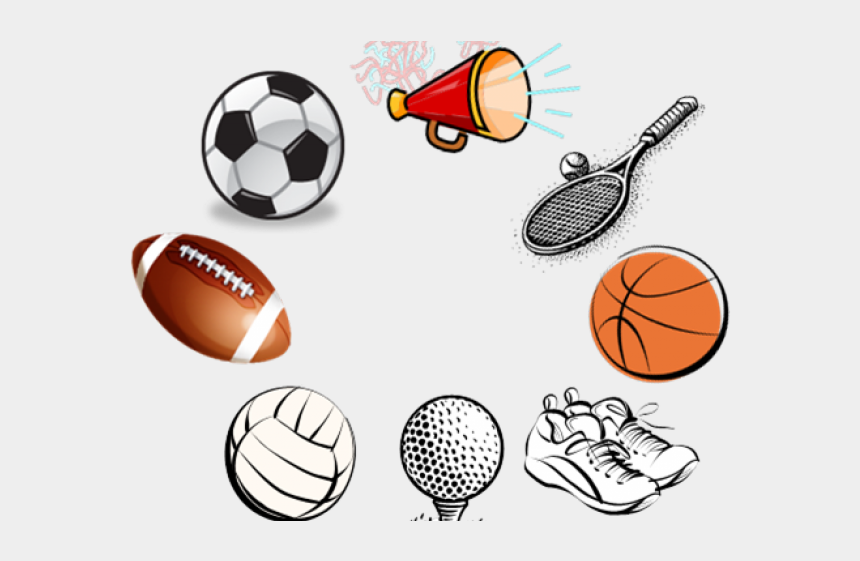 girl playing sports clipart, Cartoons - Sports Equipment Clipart Girl Sport - Fall Sports Clip Art