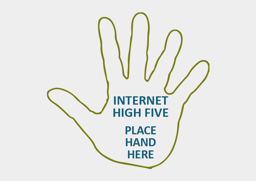 come here gesture clipart, Cartoons - Outline Of Hand With Text Inside Of Hand Reading 'internet