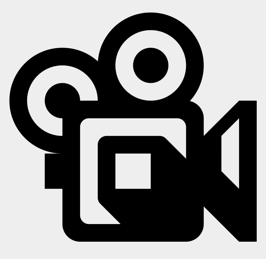 movie camera clipart black and white, Cartoons - Video Camera Clip Art Png - Video Camera Icon .png