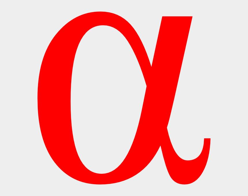 greek letter clipart, Cartoons - Alpha Greek Letter - Alpha Sign Red