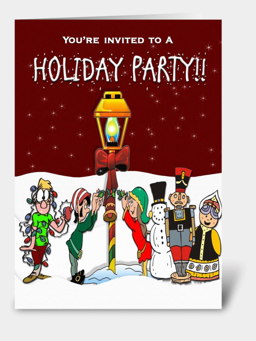 winter holiday party clipart, Cartoons - Holiday Party Invitation - Cartoon