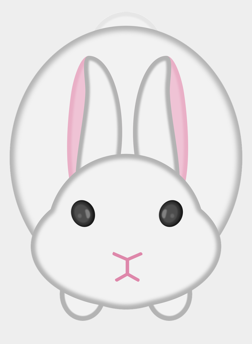 easter bunny head clipart black and white, Cartoons - Easter Bunny Domestic Rabbit Lionhead Rabbit Angel - Rabbit Face Clip Art