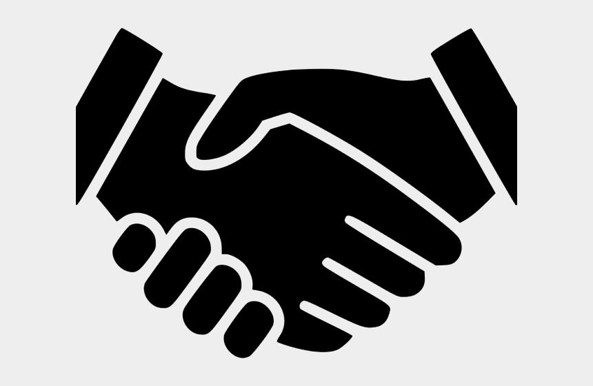 shake clipart black and white, Cartoons - Matte Clipart Shake Hand - Hand Shake Icon Transparent