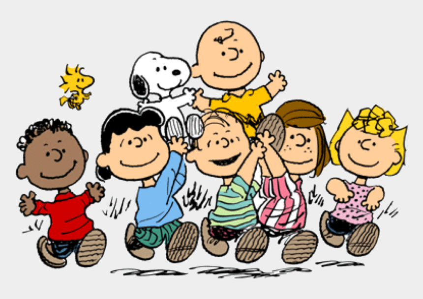 dancing snoopy clipart, Cartoons - Main Cast From Left To Right, Top To Bottom - You Re A Good Man Charlie Brown Characters